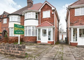 Thumbnail 3 bed semi-detached house for sale in Charminster Avenue, Yardley, Birmingham, Charminster Avenue