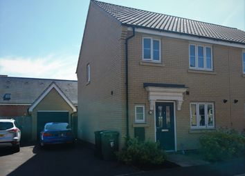 Thumbnail 3 bed semi-detached house for sale in Badger Road, Norwich, Norfolk