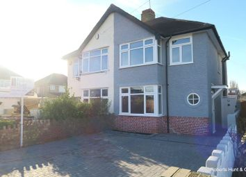 Thumbnail 3 bed semi-detached house for sale in East Road, Bedfont, Feltham
