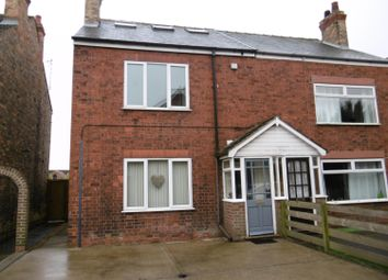 Thumbnail 3 bed semi-detached house for sale in The Avenue, Blyton, Gainsborough