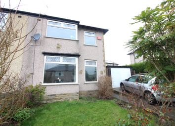 Thumbnail 3 bed semi-detached house for sale in Lower Crow Nest Drive, Lightcliffe, Halifax, West Yorkshire
