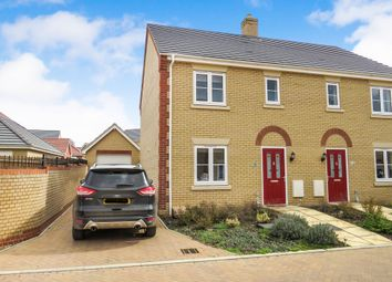 Thumbnail 3 bedroom semi-detached house for sale in Snowdrop Grove, Downham Market