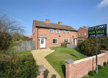 Thumbnail 3 bed semi-detached house for sale in Coach Road, Great Horkesley, Colchester, Essex
