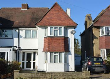 Thumbnail 3 bed semi-detached house to rent in Woodstone Avenue, Stoneleigh, Epsom