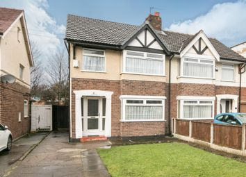 Thumbnail 3 Bed Semi Detached House For Sale In Eastham Rake Bromborough