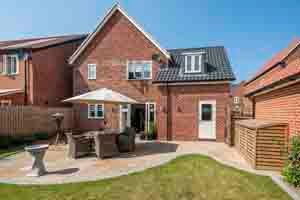 Thumbnail 3 bed detached house for sale in Woodpecker Avenue, Holt