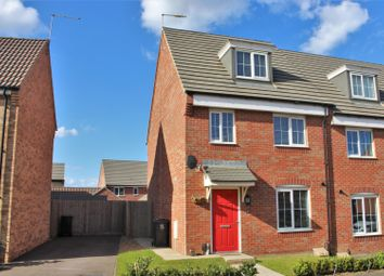 Thumbnail 3 bed semi-detached house for sale in Mayfly Road, Pineham Village, Northampton