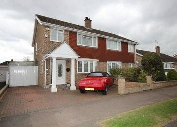 Thumbnail 3 bed semi-detached house for sale in Arundel Drive, Bedford