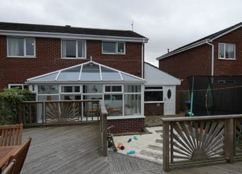 Thumbnail 3 bed semi-detached house for sale in Linburn Drive, Bishop Auckland