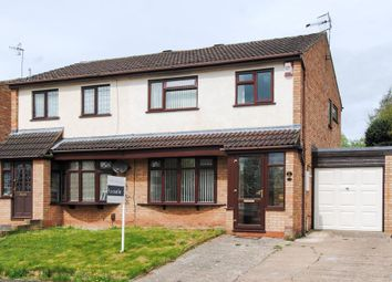 Thumbnail 3 bed semi-detached house for sale in Crane Close, Warwick