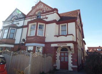 Thumbnail 1 bed flat to rent in Caroline Road, Llandudno