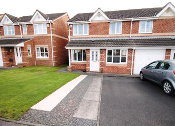 Thumbnail 3 bed semi-detached house for sale in Railway Close, Sherburn Village, Durham