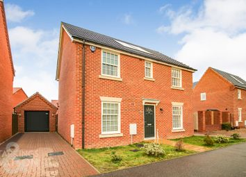 Thumbnail 4 bed detached house for sale in Albini Way, Wymondham