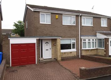 Thumbnail 3 bed semi-detached house for sale in Totnes Drive, Cramlington