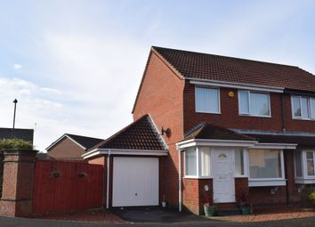 Thumbnail 2 bed semi-detached house for sale in Woodcroft Close, Annitsford, Cramlington