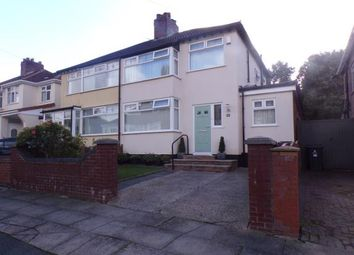 Thumbnail 3 bed semi-detached house for sale in Fairfield Avenue, Roby, Liverpool, Merseyside
