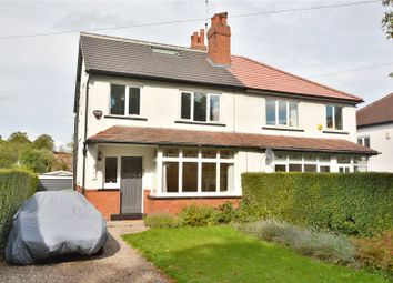 Thumbnail 3 bed semi-detached house for sale in Lidgett Park Avenue, Roundhay, Leeds
