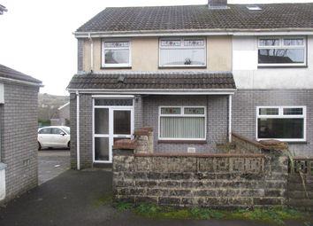 Thumbnail 3 bed semi-detached house for sale in Heol Rhyd Y Bedd, Pant, Merthyr Tydfil