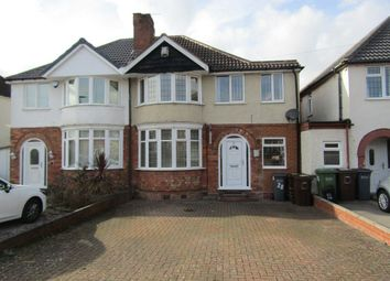 Thumbnail 3 bed semi-detached house to rent in Dunard Road, Shirley, Solihull