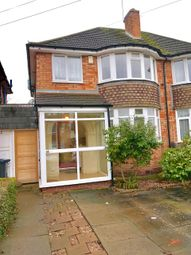 Thumbnail 3 bed semi-detached house to rent in Rosemary Road, Birmingham