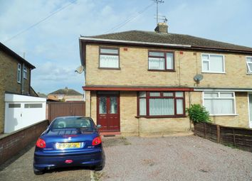 Thumbnail 3 bed property to rent in Desborough Avenue, Stanground, Peterborough