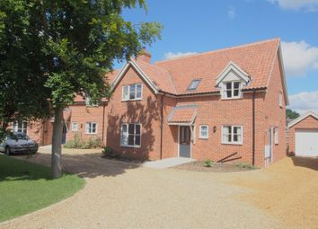 Thumbnail 4 bedroom detached house to rent in Back Lane, Wymondham, Norfolk