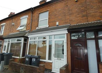 Thumbnail 3 bed terraced house to rent in Harvey Road, Yardley, Birmingham