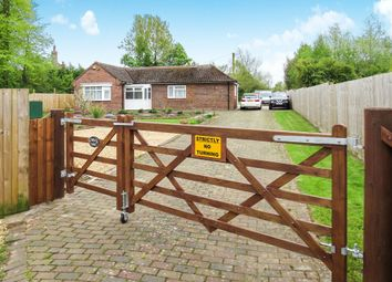 Thumbnail 2 bed detached bungalow for sale in Stow Corner, Stow Bridge, King's Lynn