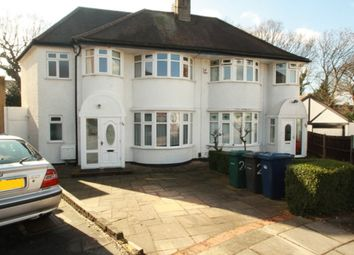 Thumbnail 4 bed semi-detached house to rent in Grove Gardens, Hendon