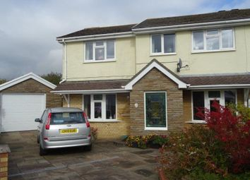 Thumbnail 4 bed semi-detached house for sale in Highfields, Brackla, Bridgend