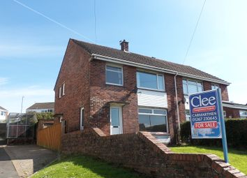 Thumbnail 3 bed semi-detached house for sale in Beech Road, Carmarthen, Carmarthenshire.