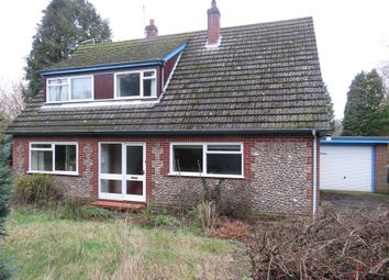 Thumbnail 3 bed bungalow for sale in Swanton Road, Gunthorpe, Melton Constable
