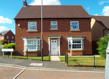 Thumbnail 4 bed detached house for sale in Polebrook Avenue, Leicester
