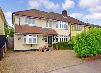 Thumbnail 4 bed semi-detached house for sale in Hurstwood Avenue, Pilgrims Hatch, Brentwood, Essex