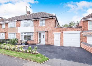Thumbnail 3 bed semi-detached house for sale in Foxhunter Drive, Oadby, Leicester