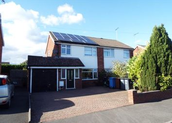 Thumbnail 3 bed semi-detached house for sale in Shipton Drive, Uttoxeter, Staffordshire