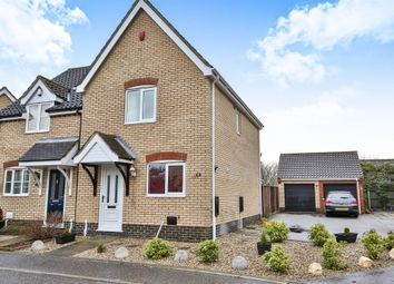 Thumbnail 2 bed semi-detached house for sale in Red Admiral Close, Wymondham