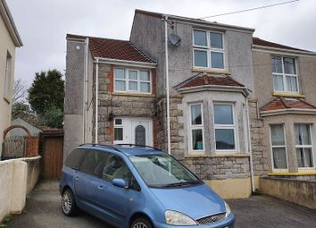 Thumbnail 3 bed semi-detached house for sale in Poltair Avenue, St. Austell