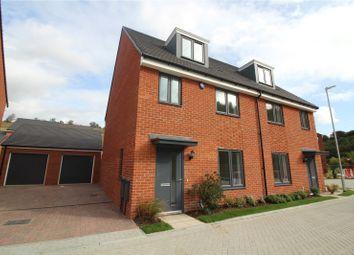 Thumbnail 4 bed semi-detached house to rent in Waterside, Castle Hill, Ebbsfleet, Swanscombe
