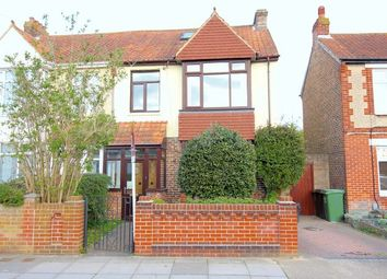 Thumbnail 3 bed semi-detached house for sale in Lendorber Avenue, Cosham, Portsmouth