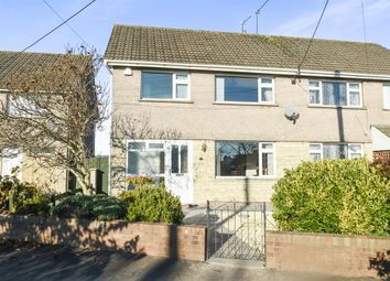 Thumbnail 3 bed semi-detached house for sale in St Mellons Road, Marshfield, Cardiff