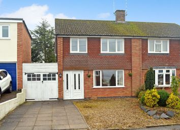 Thumbnail 3 bed semi-detached house for sale in Ashby Rise, Great Glen, Leicester