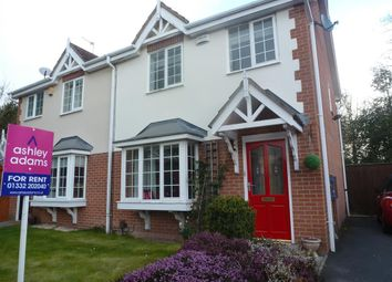 Thumbnail 3 bed semi-detached house to rent in Atworth Grove, Littleover, Derby