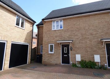 Thumbnail 2 bed semi-detached house for sale in Oswald Close, New Cardington