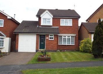 Thumbnail 3 bedroom detached house for sale in Somerset Drive, Glenfield, Leicester, Leicestershire