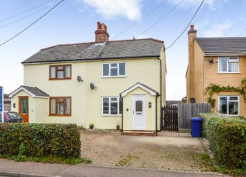 Thumbnail 3 bed semi-detached house for sale in Wickhambrook, Newmarket, Suffolk