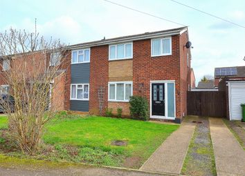 Thumbnail 3 bedroom semi-detached house for sale in Shakespeare Road, Eaton Socon, St Neots, Cambridgeshire