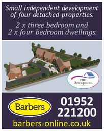 Thumbnail 3 bed detached house for sale in Mill Lane, Wellington, Telford, Shropshire