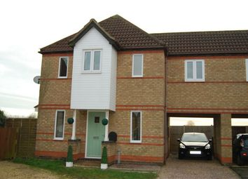 Thumbnail 3 bed semi-detached house for sale in Primrose Close, Morton, Bourne, Lincolnshire