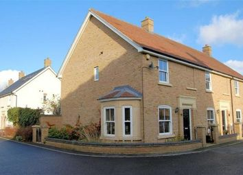 Thumbnail 3 bed end terrace house for sale in Faraday Gardens, Fairfield, Hitchin